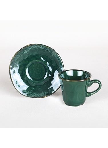 Keramika Keramika Zümrüt Kahve Takımı 12 Parça 6 Kişilik - 19024 Renkli